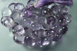 Pink Amethyst Faceted Onion