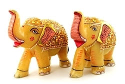 Elephant Pair Sculptures
