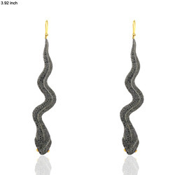 Diamond Pave Snake Earring
