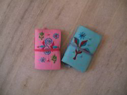 Embroidered Fabric Mini Journals