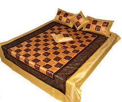 Silk Embroidered Bed Covers & Bed Sheets