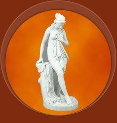 Roman White Marble Figures