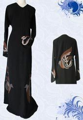 Black Crepe Embroidery Abayas