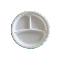 Biodegradable 10 inch 3 Compartment Plate