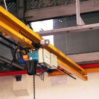 single girder eot cranes under slung cranes