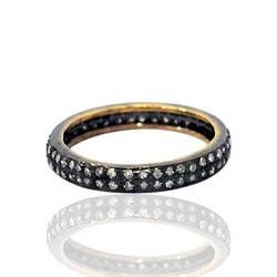 Pave Diamond Finger Bands
