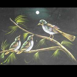 Birds Night View Painting