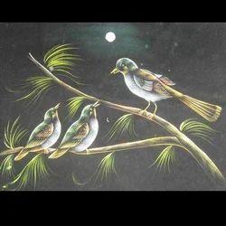 Birds Night View Painting
