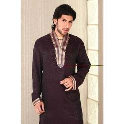 Designer Embrodied Kurta With V Neck