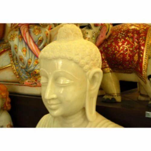 Golden Buddha Marble Statue