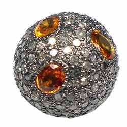 Coloured Diamond Beads 16mm