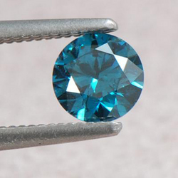 0.49 Ct African Blue Diamond Solitaire