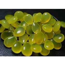 New Yellow Chalcedony Smooth Polished Large Pear Briolettes