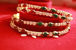 Diamond And Pota Bangles