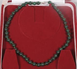 Green Aventurine (Mica) Round Beads Necklace