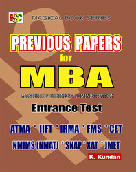 Previous Papers for MBA Entrance Exam
