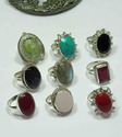 925 Sterling Silver Prehnite Rings
