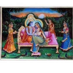 Stylish Radha Krishna Painting