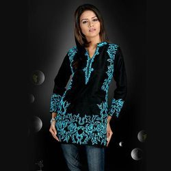 Cotton Chiken Work Kurti