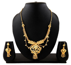 Stunning Gold Plated Wedding Necklace