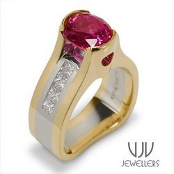 Pure+Gold+Rings+With+Red+Stone