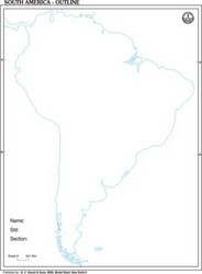 South America Outline of Map