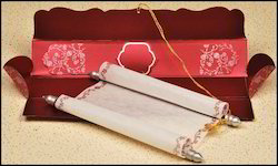 Boxed Handmade Paper Scroll Invitations