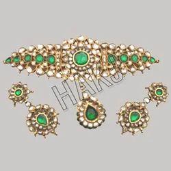 Green Kundan Set