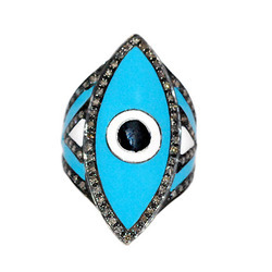 Evil Eye Diamond Rings
