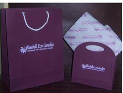 Logo Printed Paper Bags With Matching Tissue Papers