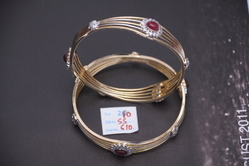 Gold Plated Zircon Bangles