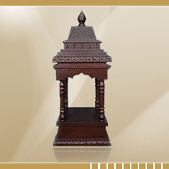 Pooja Mandir - Wooden Pooja Mandir and Wooden Mandir From India