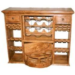 Open Chest Of Wine Racks & Drawers
