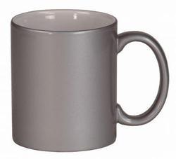 Silver Ceramic Mugs