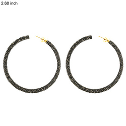 Designer Diamond Hoop Earrings