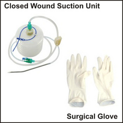 Closed Wound Suction Unit & Surgical Glove