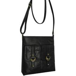 Black Leather Ladies Handbag