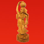 Sandalwood Girl Statues