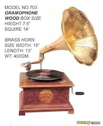 Brass Windup Gramophones