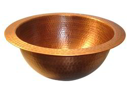 copper hammered sink