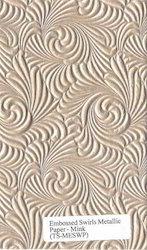 Two Tone Metallic Handmade Embossed Papers