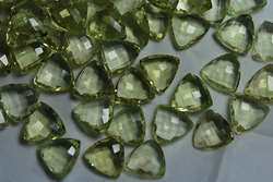 Lemon Quartz Faceted Trillion