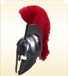 Corinthian Helmet With Red Plum