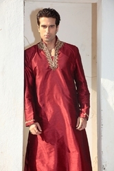 Red Long Kurta Pyjamas