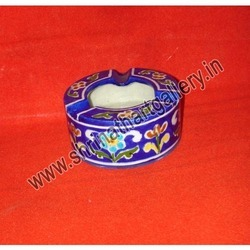 Blue Pottery Ashtray