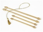 Golden Scroll Rods For Scroll Invitations