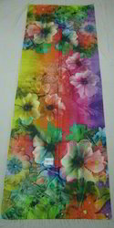 Silk Kashmiri Silk Stole With Digital Print