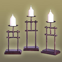 Aluminum Pillar Candle Holders