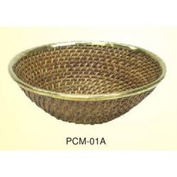 Wicker Flate Bowl