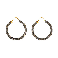 Diamond Hoop Earrings Jewelry
